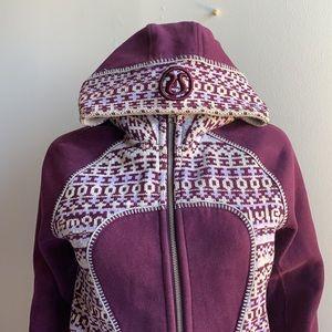Rare Scuba Plum Purple Fair Isle Knit